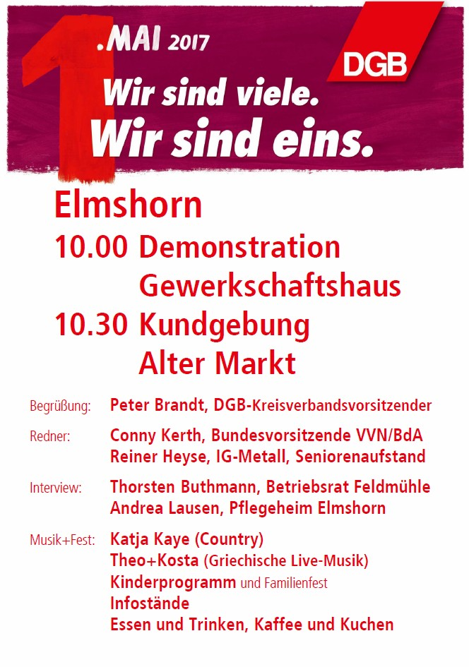1. Mai 2017 in Elmshorn