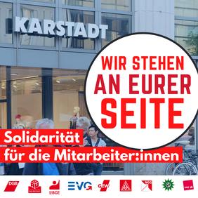 Karstadt: Solidarität für die Mitarbeiter:innen