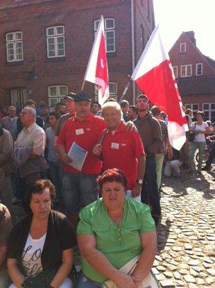 Der Kreisverband Mölln bei der Demo