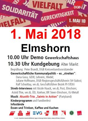 1. Mai 2018 in Elmshorn