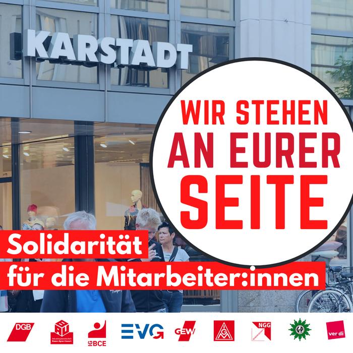 Solidarität mit Karstadt-Mitarbeiter:innen
