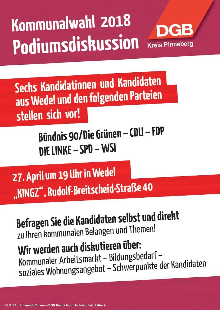 Podiumsdiskussion Kommunalwahl 2018