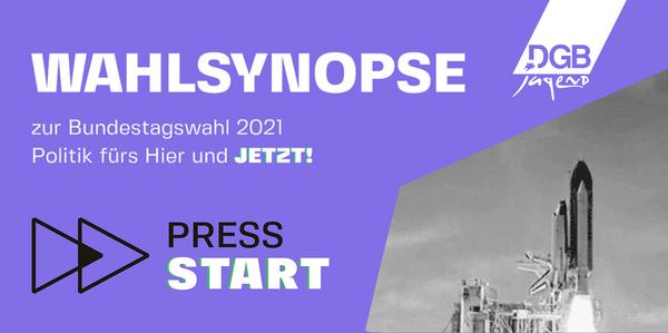 DGB Jugend – WAHLSYNOPSE zur Bundestagswahl 2021 – Politik fürs Hier und JETZT!