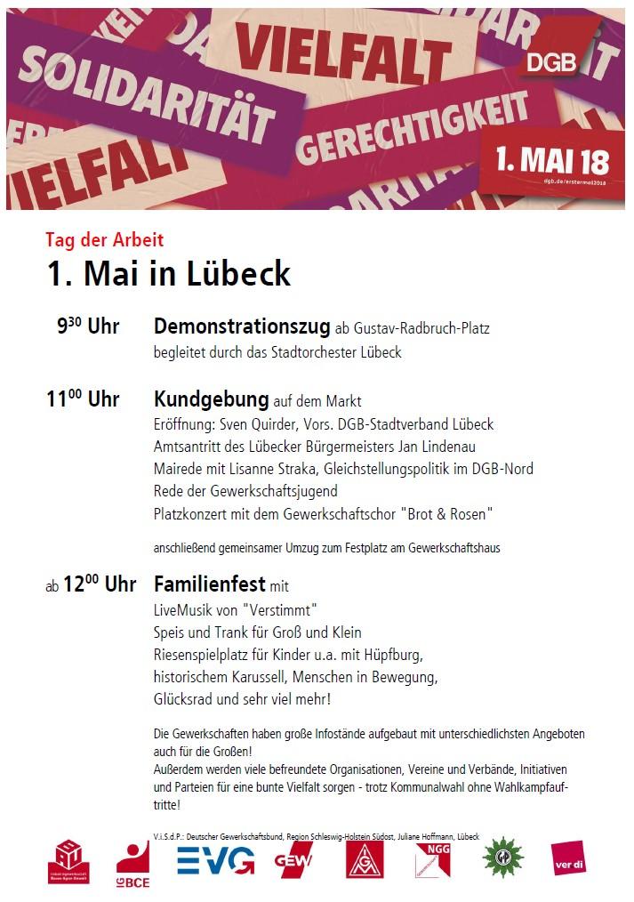 1. Mai 2018 Lübeck