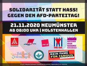 Protest gegen AfD-Landesparteitag