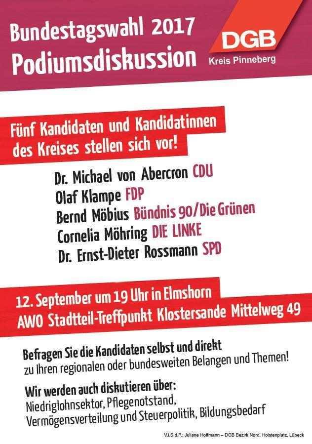 Podiumsdiskussion Bundestagswahl