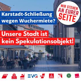 Karstadt: Unsere Stadt ist kein Spekulationsobjekt!